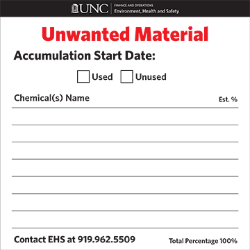 Unwanted Material label