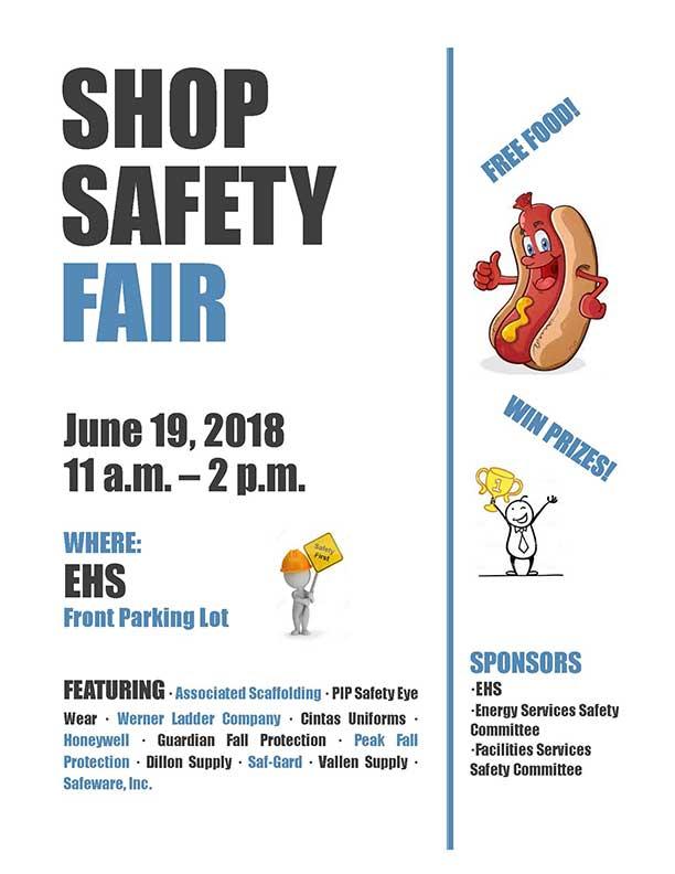 Shop Safety Fair Flyer