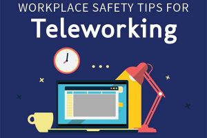 Workplace Safety Tips for Teleworking Graphic
