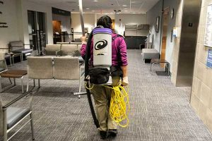 Cleaning building interiors